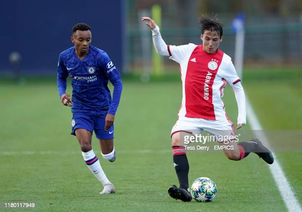 Chelsea's Thierno Ballo and Ajax's Filip Frei in action Chelsea v Ajax UEFA Youth Champions League Group H Cobham Training Ground