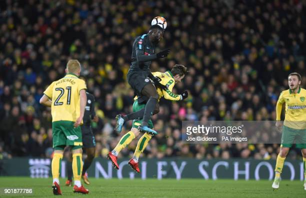 Chelsea's Tiemoue Bakayoko and Norwich City's James Maddison battle for the ball during the FA Cup third round match at Carrow Road Norwich