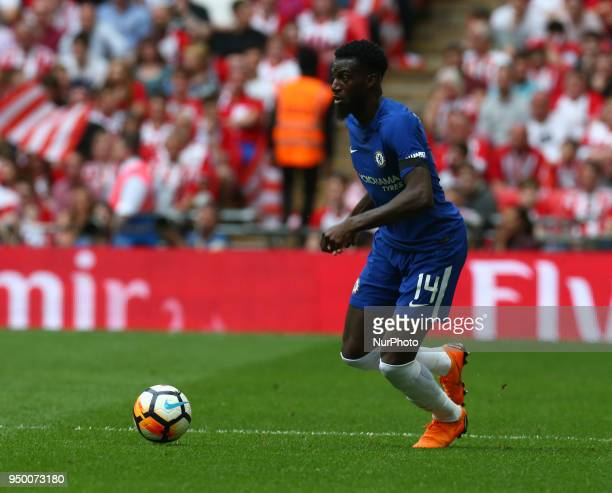 Chelsea's Tiemoue Bakayoko during the FA Cup semifinal match between Chelsea and Southampton at Wembley London England on 22 April 2018