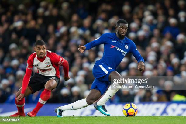 Chelsea's Tiemoue Bakayoko in action during the Premier League match between Chelsea and Southampton at Stamford Bridge on December 16 2017 in London...