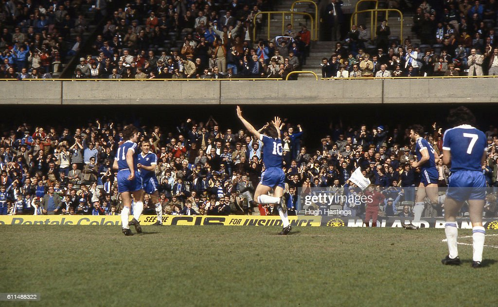 Chelsea's Tommy Langley celebrates scoring. News Photo - Getty Images