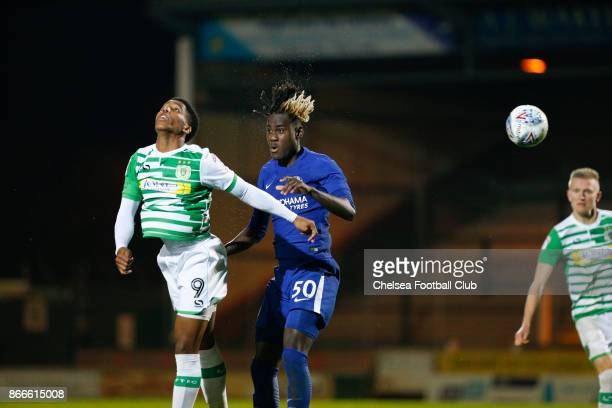 Chelsea's Trevor Chalobah during the Checkatrade Trophy match between Yeovil Town and Chelsea at Huish Park on October 25 2017 in Yeovil England
