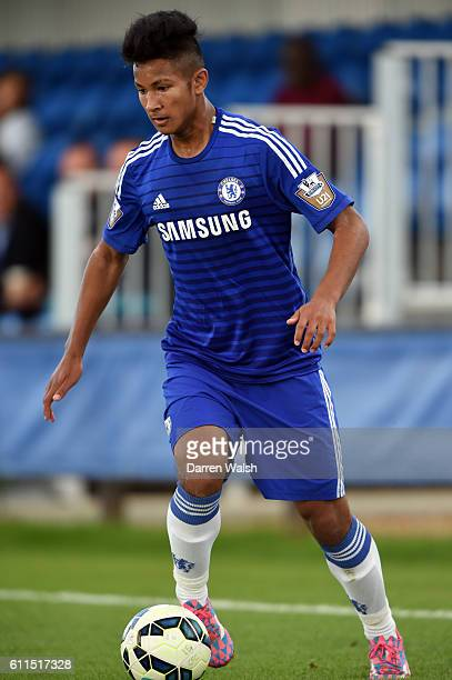 Chelsea's U21 Faiq Bolkiah during a friendly match Under 21 match between Chelsea and Burnley at the Cobham Training Ground on 24th September 2014 in...