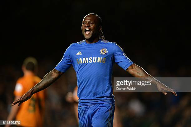 Chelsea's Victor Moses celebrates scoring his side's sixth goal