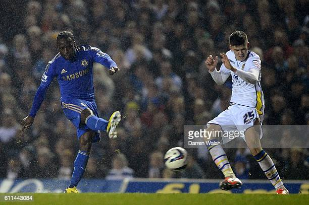 Chelsea's Victor Moses scores his side's third goal of the game