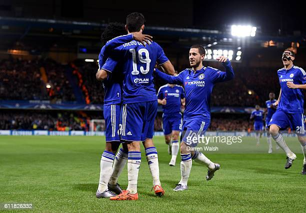 Chelsea's Willian celebrates scoring his side's second goal of the game