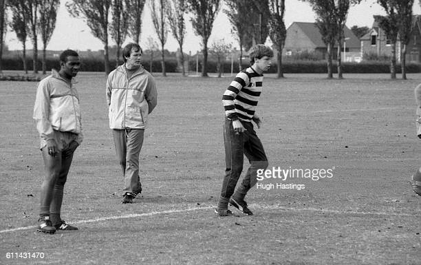 Chelsea's Youth Team in training at Harlington London with coach Gwyn Williams 1985