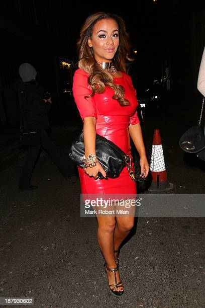 Chelsee Healey arriving at DSTRKT night club on November 13 2013 in London England