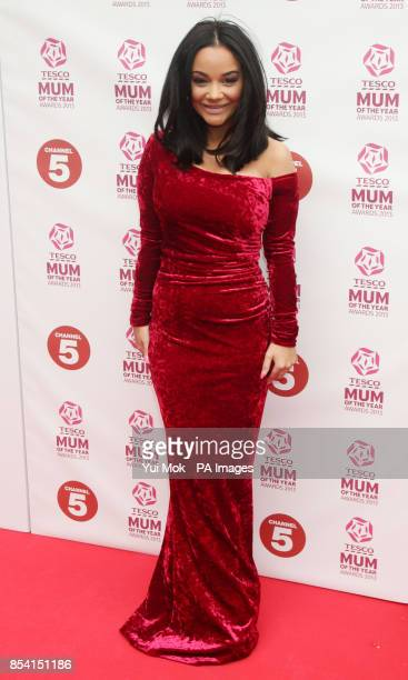 Chelsee Healey arriving for the Tesco Mum of the Year Awards at The Savoy hotel in central London