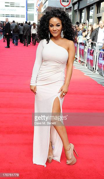 Chelsee Healey attends the UK Premiere of 'Hummingbird' at Odeon West End on June 17 2013 in London England