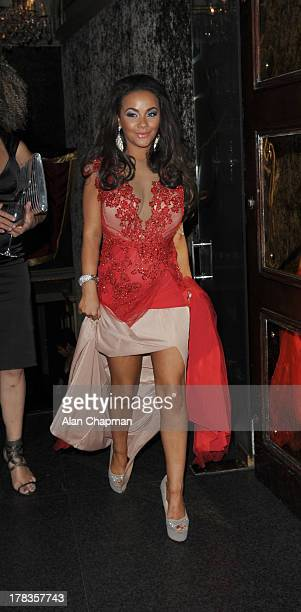 Chelsee Healey sighting at Cafe de Paris on August 29 2013 in London England