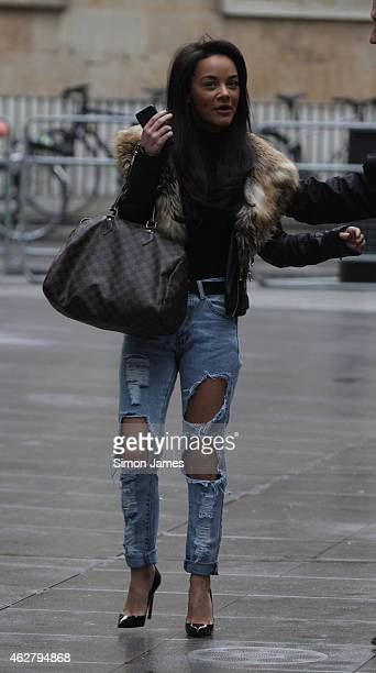 Chelsee Healey sighting at the BBC on February 5 2015 in London England