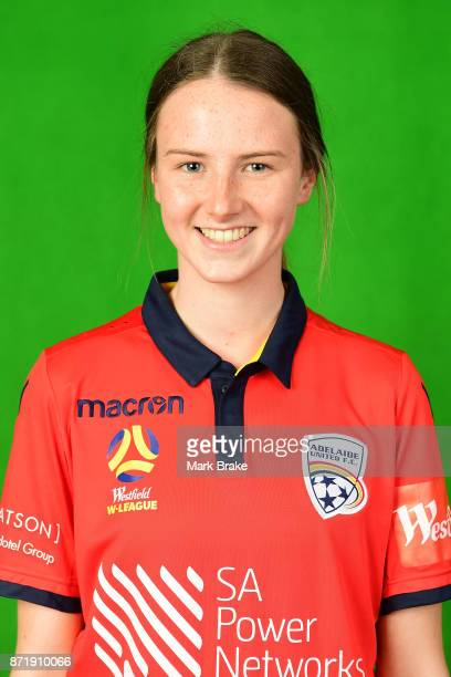 Chelsie Dawber 01 poses during the Adelaide United 2017/18 WLeague headshots session at Marden Sports Complex on November 8 2017 in Adelaide Australia