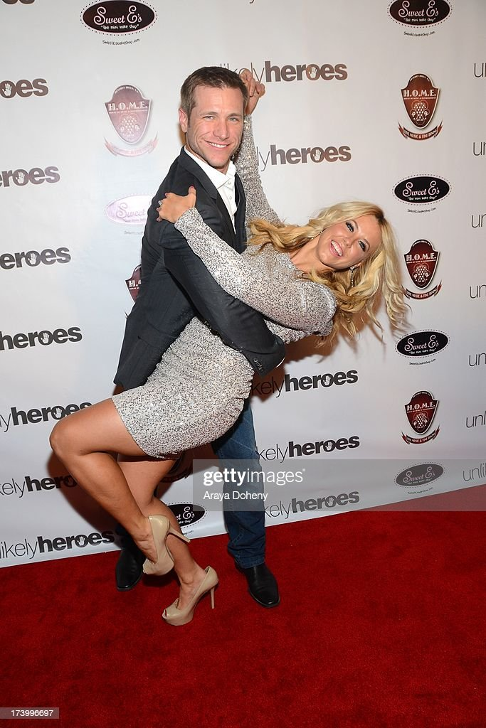 Chelsie Hightower and Jake Pavelka attends the Chelsie Hightower and Peta Murgatroyd Charity Birthday Party on July 18, 2013 in Los Angeles, California.