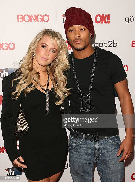 Chelsie Hightower and Romeo arrive at the OK Magazine Toasts Hollywood's Sexiest Singles event at the Lexington Social House on April 14 2011 in...