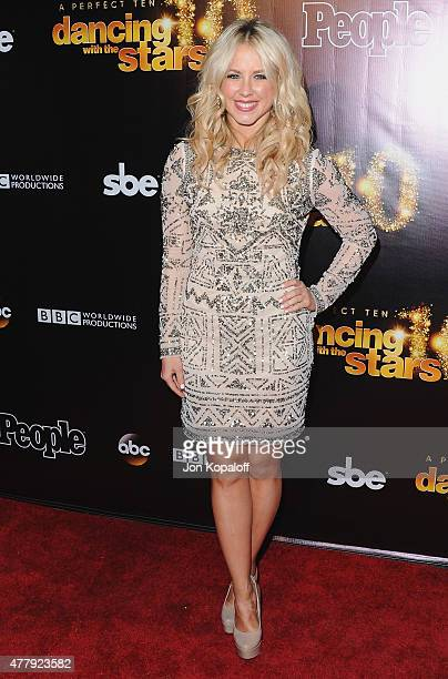 Chelsie Hightower arrives at the 10th Anniversary Of Dancing With The Stars Party at Greystone Manor on April 21 2015 in West Hollywood California