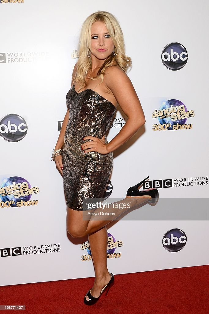 Chelsie Hightower arrives at the 'Dancing With The Stars' 300th episode red carpet event on May 14, 2013 in Los Angeles, California.
