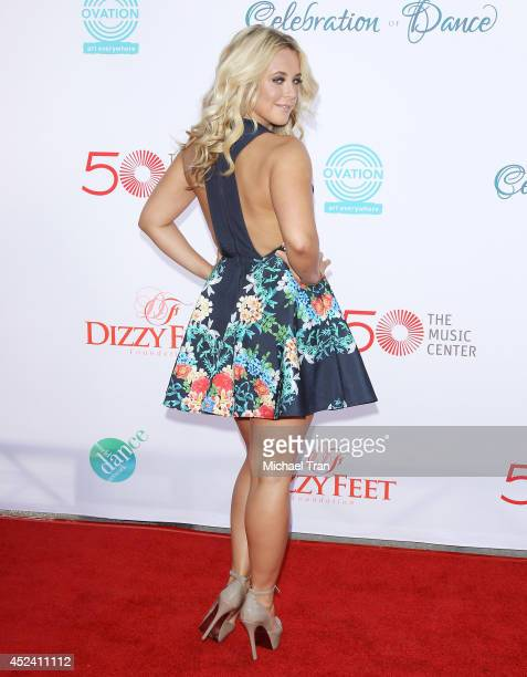 Chelsie Hightower arrives at The Dizzy Feet Foundation's 4th Annual Celebration of Dance Gala held at Dorothy Chandler Pavilion on July 19 2014 in...