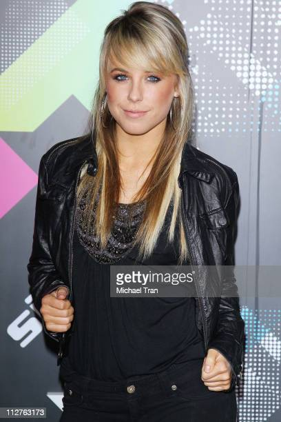 Chelsie Hightower arrives at the TMobile Sidekick 4G launch party held at 9900 Wilshire Blvd on April 20 2011 in Beverly Hills California