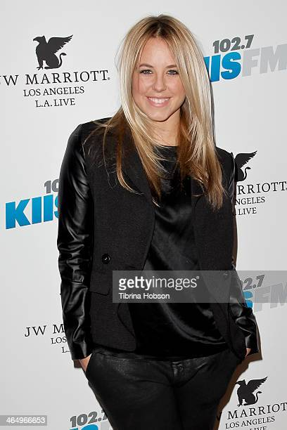 Chelsie Hightower attends the KIIS 1027 and ALT 987 FM preGrammy party and lounge at JW Marriott Los Angeles at LA LIVE on January 24 2014 in Los...