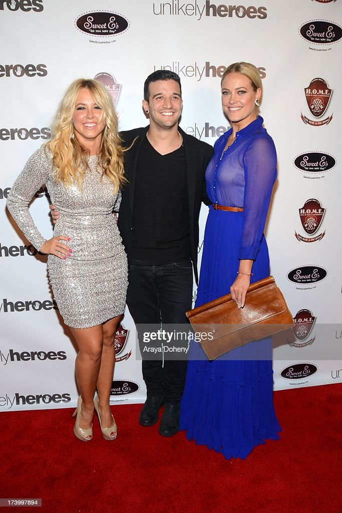Chelsie Hightower, Mark Ballas and Peta Murgatroyd attend the Chelsie Hightower and Peta Murgatroyd Charity Birthday Party on July 18, 2013 in Los Angeles, California.