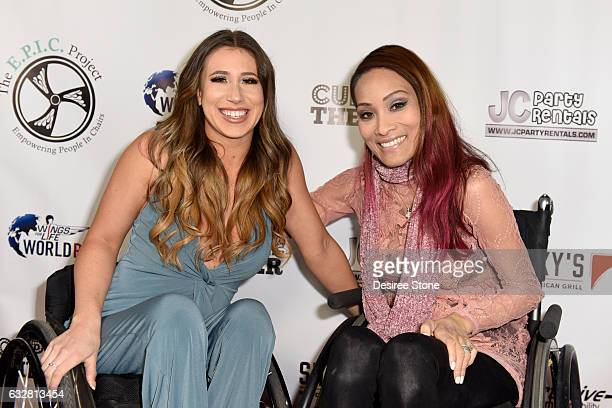 Chelsie Hill and Angela Rockwood attend the official launch of the EPIC Project at Cupcake Theater on January 26 2017 in Los Angeles California