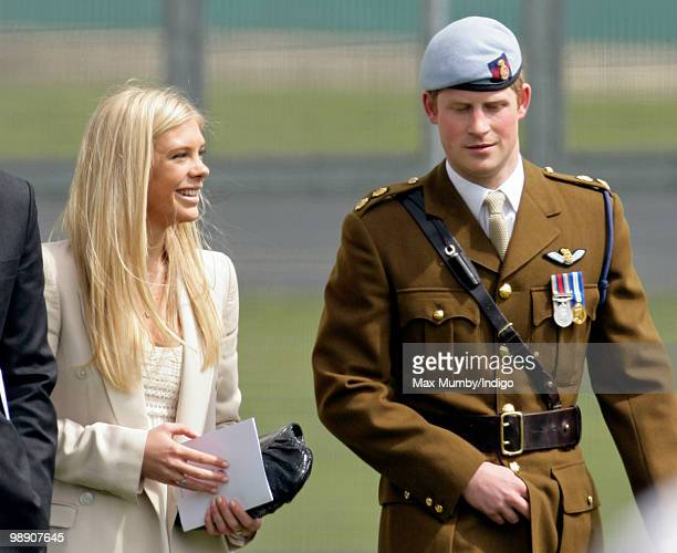 Chelsy Davy and boyfriend HRH Prince Harry attend Harry's Army Air Corps pilots course graduation ceremony at the Museum of Army Flying on May 7 2010...