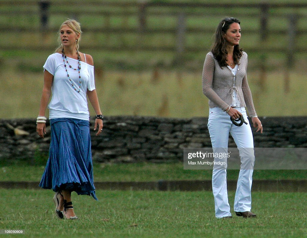 kate middleton and chelsy davy attend a charity polo match