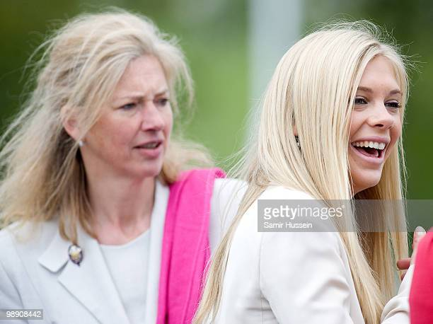 Chelsy Davy and Tiggy LeggeBourke chat after Prince Harry received his flying badges at the Museum of Army Flying on May 7 2010 in Middle Wallop...