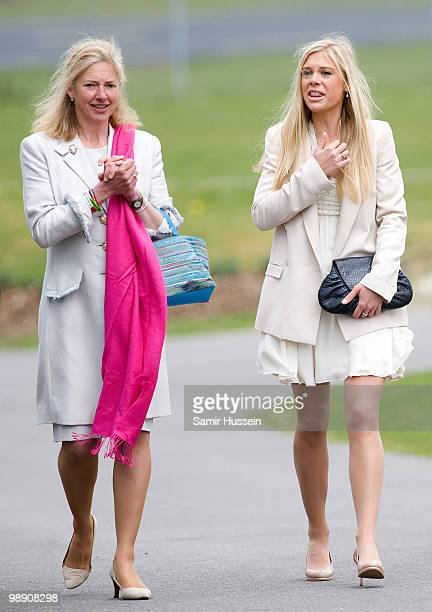 Chelsy Davy and Tiggy LeggeBourke leave after Prince Harry received his flying badges at the Museum of Army Flying on May 7 2010 in Middle Wallop...