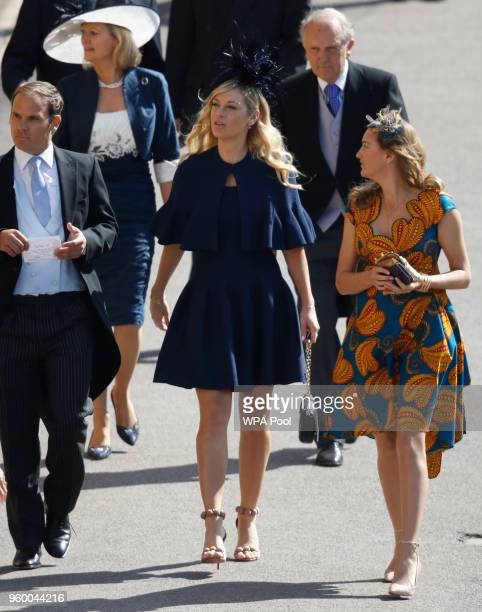 Chelsy Davy arrives for the wedding ceremony of Britain's Prince Harry and US actress Meghan Markle at St George's Chapel Windsor Castle on May 19...