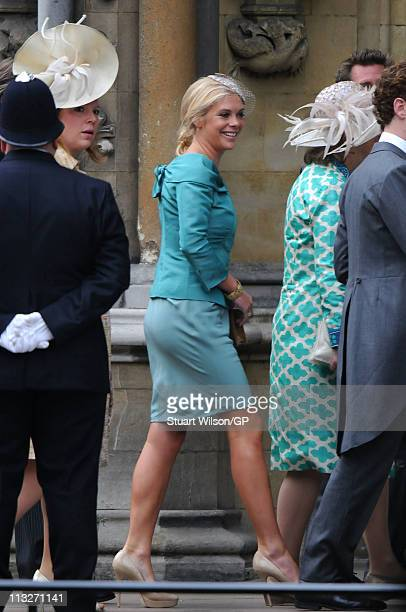 Chelsy Davy arrives to attend the Royal Wedding of Prince William to Catherine Middleton at Westminster Abbey on April 29 2011 in London England The...