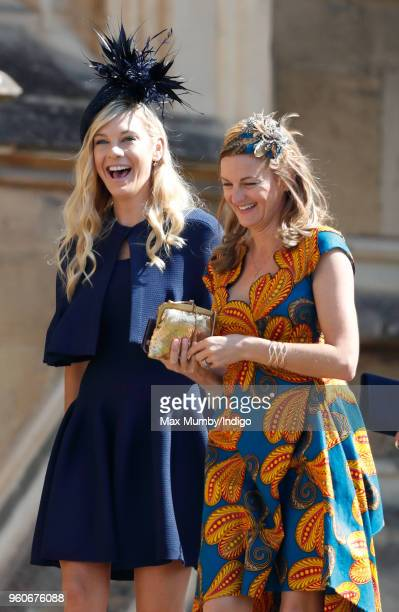 Chelsy Davy attends the wedding of Prince Harry to Ms Meghan Markle at St George's Chapel, Windsor Castle on May 19, 2018 in Windsor, England. Prince...