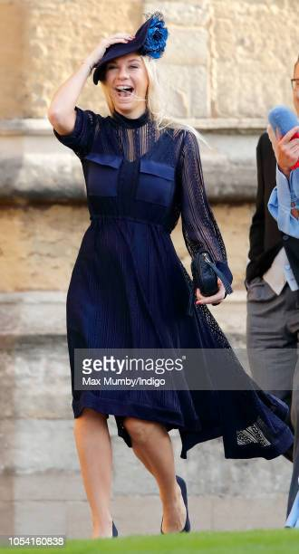 Chelsy Davy attends the wedding of Princess Eugenie of York and Jack Brooksbank at St George's Chapel on October 12 2018 in Windsor England
