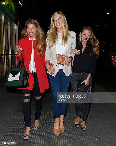 Chelsy Davy leaves The Ivy Chelsea Garden folling their launch night on April 14 2015 in London England