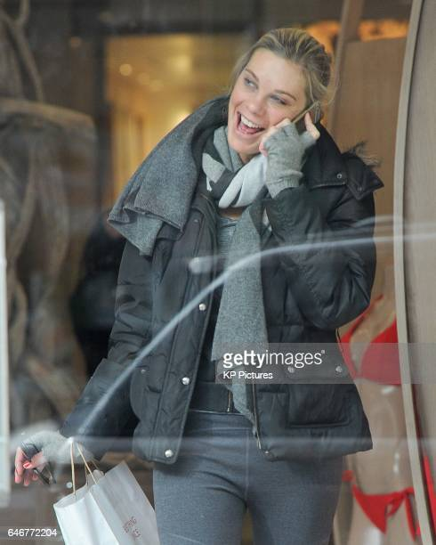 Chelsy Davy seen shopping in a shop selling swimwear and lingerie on King's Road Chelsea February 28 2017 in London England