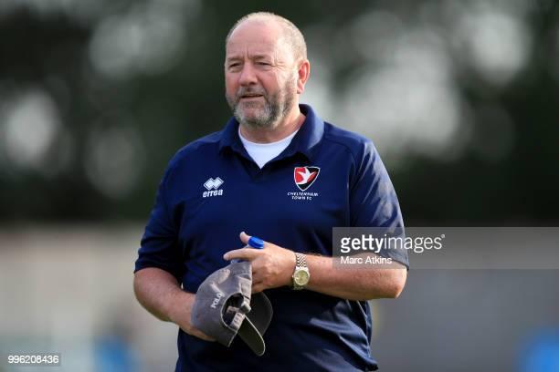 Cheltenham Town FC manager Gary Johnson during the Pre-Season Friendly between Bristol City v Cheltenham Town on July 10, 2018 in Weston-Super-Mare,...