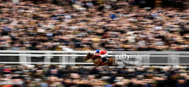 Cheltenham United Kingdom 11 March 2020 Envoi Allen with Davy Russell up their way to winning the Ballymore Novices' Hurdle on Day Two of the...