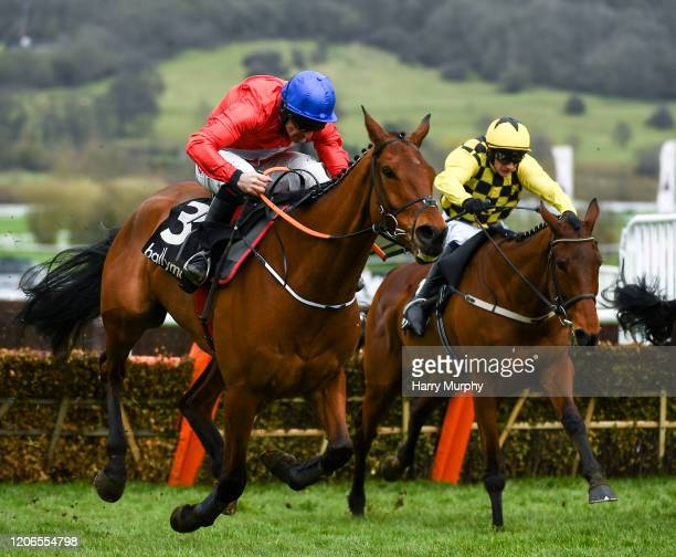 Cheltenham United Kingdom 11 March 2020 Envoi Allen with Davy Russell up race clear of The Big Getaway with Paul Townend up during the Ballymore...