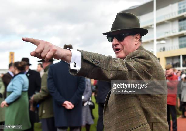 Cheltenham United Kingdom 12 March 2020 Representative owner Rich Ricci celebrates after sending out Min to win the Ryanair Chase on Day Three of the...