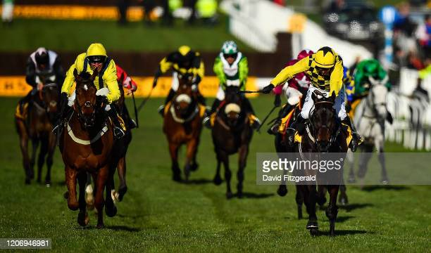 Cheltenham United Kingdom 13 March 2020 Al Boum Photo with Paul Townend up right on their way to winning the Magners Cheltenham Gold Cup Chase ahead...