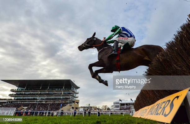 Cheltenham United Kingdom 13 March 2020 Chosen Mate with Davy Russell up jump the last on their way to winning the Johnny Henderson Grand Annual...
