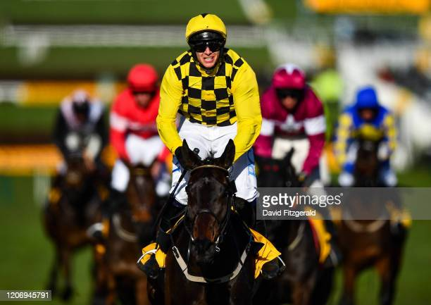 Cheltenham United Kingdom 13 March 2020 Jockey Paul Townend on Al Boum Photo after winning the Magners Cheltenham Gold Cup Chase on Day Four of the...