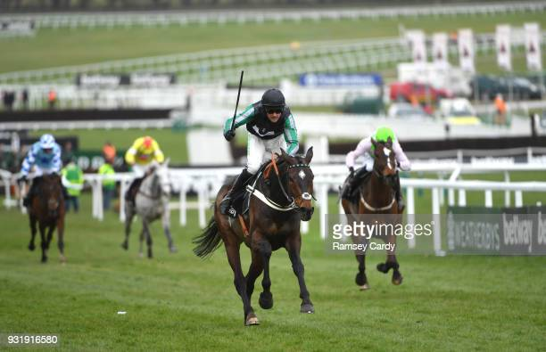 Cheltenham United Kingdom 14 March 2018 Altior with Nico de Boinville up on their way to winning The Betway Queen Mother Champion Steeple Chase on...