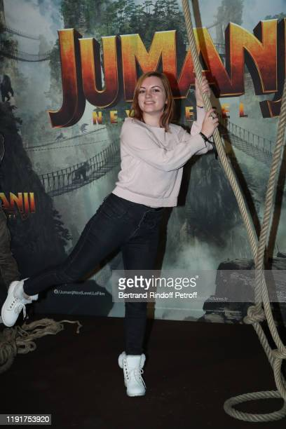 ChelxieLive attends the photocall of the Jumanji Next Level film at le Grand Rex on December 03 2019 in Paris France