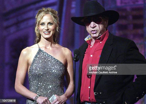 Chely Wright and Buck Owens present at the 37th Academy of Country Music Awards at the Universal Amphitheater May 22, 2002.