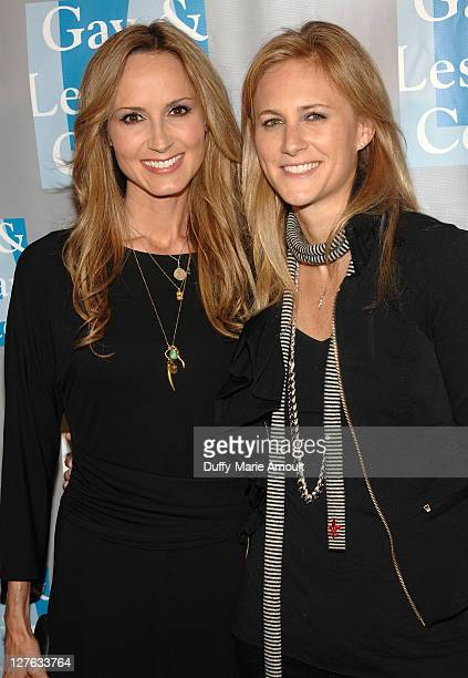 Chely Wright and Lauren Blitzer attend LA Gay and Lesbian Center's An Evening with Women at The Beverly Hilton hotel on April 16 2011 in Beverly...
