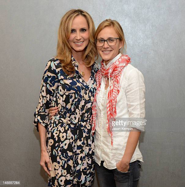 Chely Wright and Lauren Blitzer attend the Chely Wright Wish Me Away New York Screening at Quad Cinema on June 1 2012 in New York City