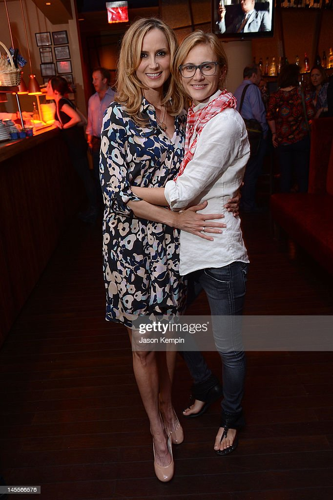 Chely Wright and Lauren Blitzer attend the 'Chely Wright: Wish Me Away' New York After Party at Zio Restaurant on June 1, 2012 in New York City.