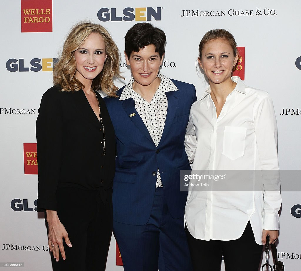 Chely Wright, Dr. Eliza Byard and Lauren Blitzer-Wright attend 11th Annual GLSEN Respect awards at Gotham Hall on May 19, 2014 in New York City.